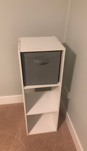 White 3 storage cubby for Sale in Denver, CO