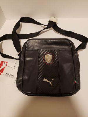 "PUMA FERRARI LS PORTABLE Unisex Black Cross-Body Bag, Messenger Bag. Size 8""x 9""x 2.5"" for Sale in Rockwall, TX"