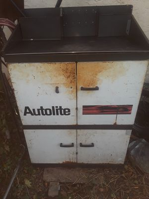 Antique Autolite metal cabinet for Sale in Sharon Hill, PA