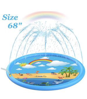 """Brand new! Sprinkler for Kids, Sprinkle & Splash Play Mat 68"""" for Kids (Upgraded 2020 Version) 3-in-1 Inflatable Splash Pad Outdoor Water Mat Toys fo for Sale in Miami, FL"""