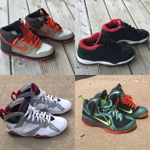 Nike Dunk, Air Jordan 11.5, Air Jordan 7, Nike LeBron for Sale in Chicago, IL