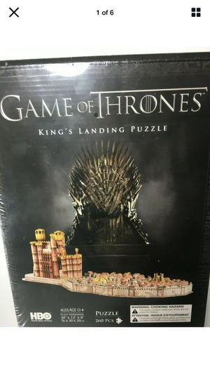 Game of Thrones King's Landing 3D Puzzle Landing Puzzle (260 Piece) New Sealed for Sale in Auburn, MA