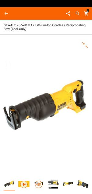 DEWALT 20-Volt MAX Lithium-Ion Cordless Reciprocating Saw (Tool-Only) for Sale in Dumfries, VA