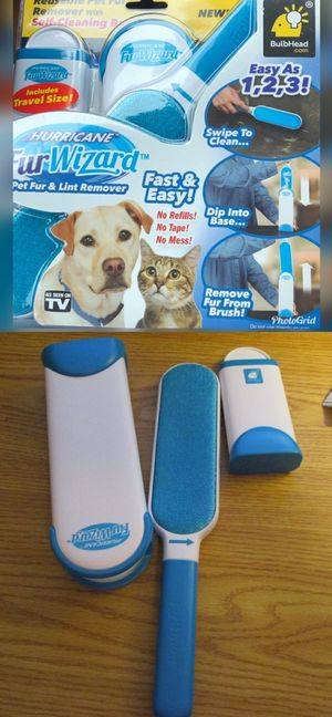 NEW As Seen On TV Hurricane Fur Wizard Hair Remove Clothing Lint Fur Remover Dog Cat Pet Hair for Sale in Montebello, CA