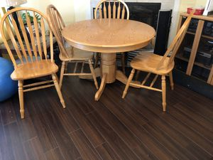 """All wood 42"""" Table set for Sale in Newport News, VA"""
