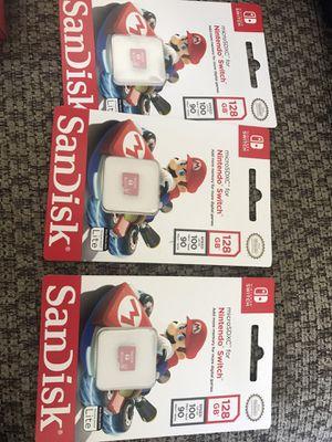 Nintendo Switch memory card sd card 128gb super Mario edition new for Sale in Miami, FL