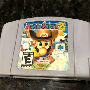 Mario Party 2 For Nintendo 64 for Sale in Fresno, TX