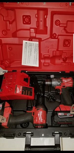 Milwaukee M18 FUEL 18-Volt Lithium-Ion Brushless Cordless Hammer Drill and Impact Driver Combo Kit (2-Tool) with Two 5Ah Batteries for Sale in Covina, CA