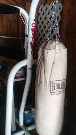 Century everlast heavy bag and speed bag combo all one unit for Sale in Lynwood, IL
