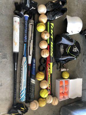 Softball Starter Bats, balls, shoes, glove , helmet $600 value for Sale in Davenport, FL