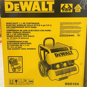 4gal DeWalt Air Compressor D55154 for Sale in Everett, WA