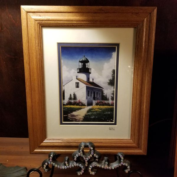 2 Lighthouse pictures signed