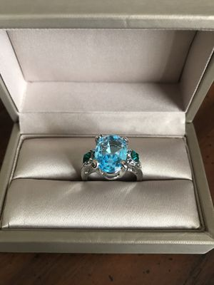 Peacock crystal stone sterling silver ring💍Sz7 for Sale in Bellwood, IL