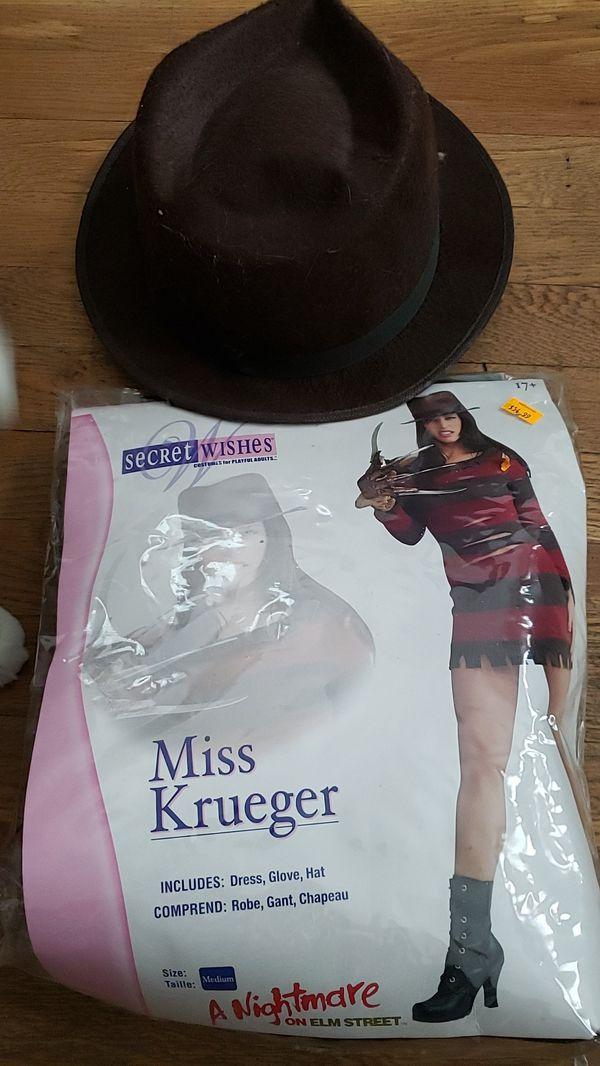Freddy Kruger costume size medium