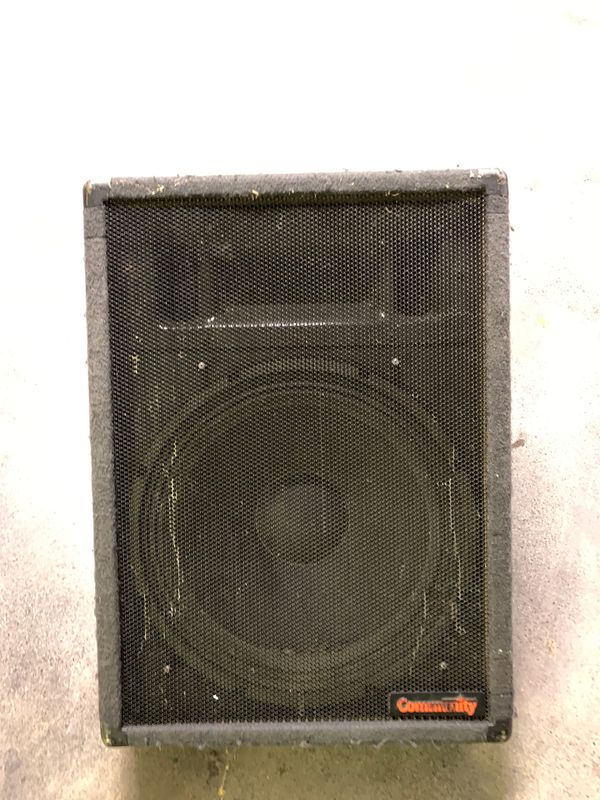 Community Wedge Stage Monitor CSX3800 Two Way Speakers Pro Audio