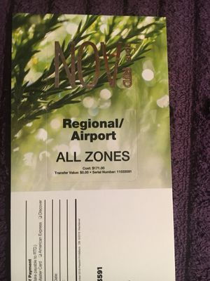 RTD November Regional pass for Sale in Denver, CO