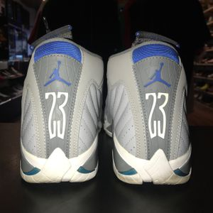 Nike Air Jordan Retro XIV 14 Men's Size US9 Grey White Blue for Sale in Portland, OR