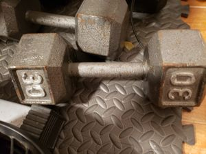 Two 30 lb hex dumbbells for Sale in Queens, NY