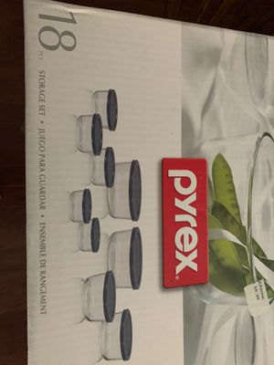 Pyrex 18 storage set brand new for Sale in Morrisville, NC