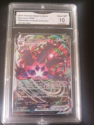 Eternatus VMAX promo pokemon sword and shield holo GMA 10 for Sale in Rockville, MD