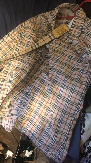 Burberry shirt men's $125 for both belt size 32 /shirt size medium for Sale in Decatur, GA