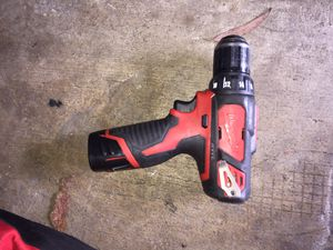 Milwaukee 12v drill\driver 3\8 (10mm) for Sale in Upland, CA
