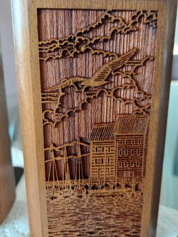 """LASERCRAFT COMPANY. AMERICAN WALNUT BOOKENDS...SEAGULL 7""""x 3,5"""" for Sale in Palatine,  IL"""