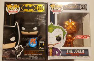 Batman 80th Anniversary Batman Damned, Arkham Games Joker, Batman Joker Imposter, Kid Flash Funko Pops for Sale in Beaverton, OR