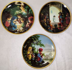 Set Of 3 Precious Moments Christmas Bible Story Plates for Sale in Duluth, GA