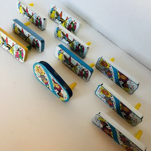 LOT 10 VINTAGE US METAL TOY MFG CO. TIN NOISEMAKERS CLACKERS HORN for Sale in San Diego, CA