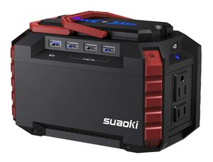 SUAOKI Portable Power Station, 150Wh Camping Generator Lithium Power Supply with Dual 110V AC Outlet, 4 DC Ports, 4 USB Ports for Sale in Valencia, CA