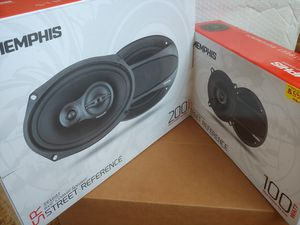 Car speakers : ( 2 PAIRS ) Memphis 1 pair 6×9 3 way 200 watts & 1 pair 5 1/4 inch 2 way 100 watts per pair peak power car speaker for Sale in Bell Gardens, CA