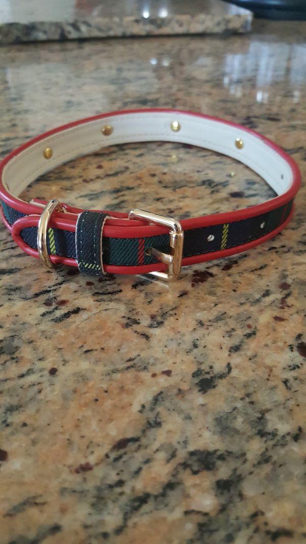 Dog collar, Christmas design. 18 in New