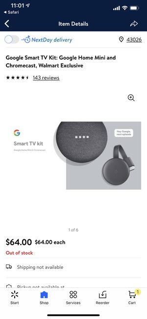 Google Smart TV Kit: Google Home Mini and Chromecast - Brand New for Sale in Hilliard, OH