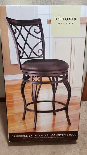 2 Brand new in box counter height 24in swivel stools for Sale in Everett, WA