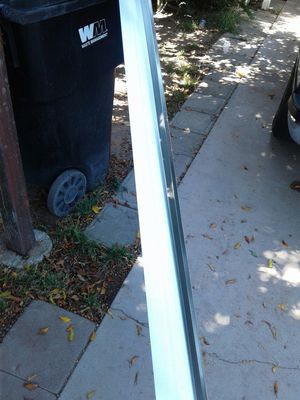 """40 pieces of galvanized drip metal 4""""x2""""x10' for Sale in Riverside, CA"""