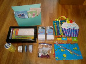 Box of New 3D Cards & Gift Wrapping Supplies for Sale in Butte, MT