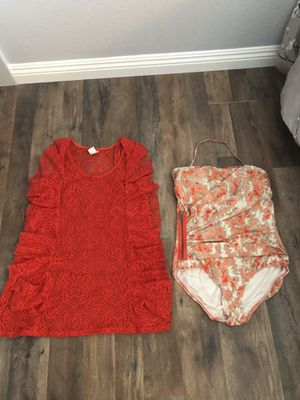 Michael Kors bathing suit sz12 W/cover up for Sale in Murrieta, CA