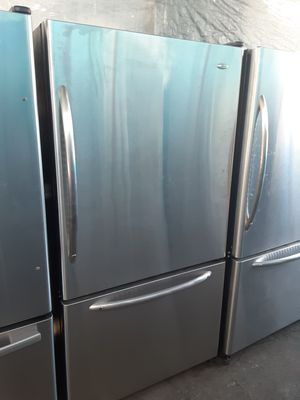 $399 Whirlpool Amana stainless bottom freezer fridge includes delivery in the San Fernando Valley a warranty and installation for Sale in Los Angeles, CA