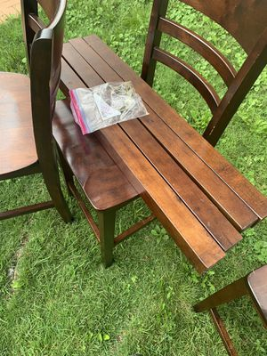 WoodenTable and four chairs for Sale in Columbus, OH