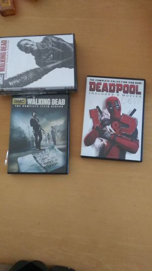 Dvds walking dead and deadpool for Sale in Burrillville, RI