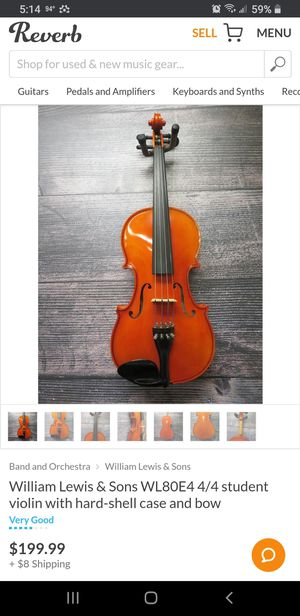 Student violin with bow and case for Sale in North Chesterfield, VA