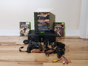 Original Xbox & hookups, 18 games *TESTED, WORKING* for Sale in Jetersville, VA
