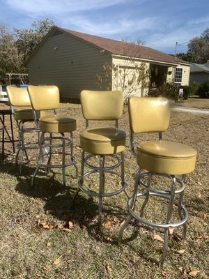 Retro gold barstools for Sale in Carrollton, TX