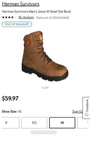 Survivors Men Steel toe boots size 10 *BRAND NEW* for Sale in Merced, CA