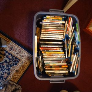 One Bin Full Of DVDs /Blu-rays Over A Hundred for Sale in Lowell, MA