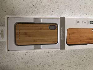 Iphone x bamboo case never used for Sale in Falls Church, VA