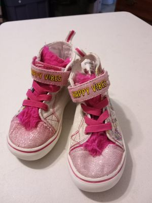 Toddler size 7 girls sneakers trolls for Sale in Chesapeake, VA