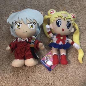 Anime plushy inuyasha and sailor moon for Sale in Midlothian, VA