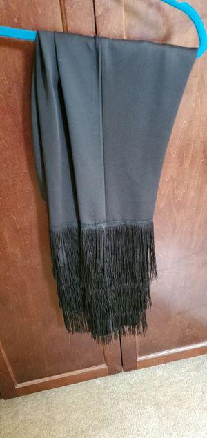 Black fringe pull on slacks...very cool, size sm for Sale in Bakersfield, CA